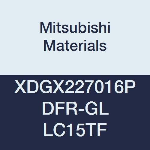 Mitsubishi Materials XDGX227016PDFR-GL LC15TF Coated Carbide Milling Insert, Class G, Sharp Honing, Special Design, Grade LC15TF, 0.276'' Thick, 0.063'' Corner Radius (Pack of 10) by Mitsubishi Materials