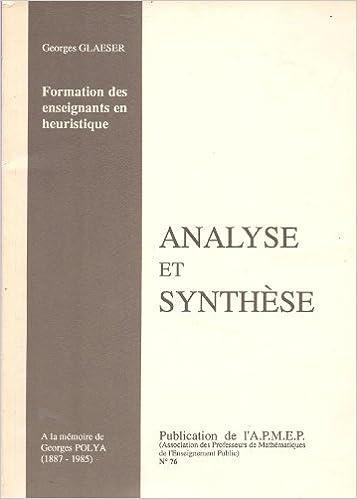 Lire en ligne Analyse et synthèse, numéro 76 epub, pdf