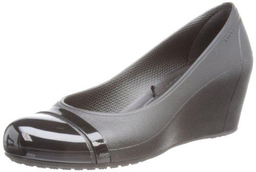 compensées Cap Toe Black Noir Black Crocs femme Sandales q8azUH