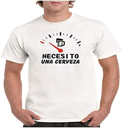 Camisetas Divertidas Necesito una Cerveza - para Hombre Camiseta: Amazon.es: Ropa y accesorios