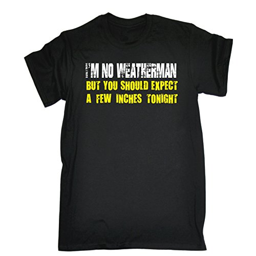 123t Men's – I'M NO WEATHERMAN – Loose Fit T-shirt (Distressed Style Print)