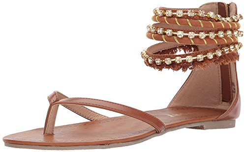 Report Women's Gentry Flat Sandal, Cognac, 9 M US ()