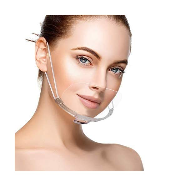 10-Stck-durchsichtier-Gesichtsschutz-Komplett-Transparent-Visier-Spuck-Schutz-Face-Shield-Schutzschild-10