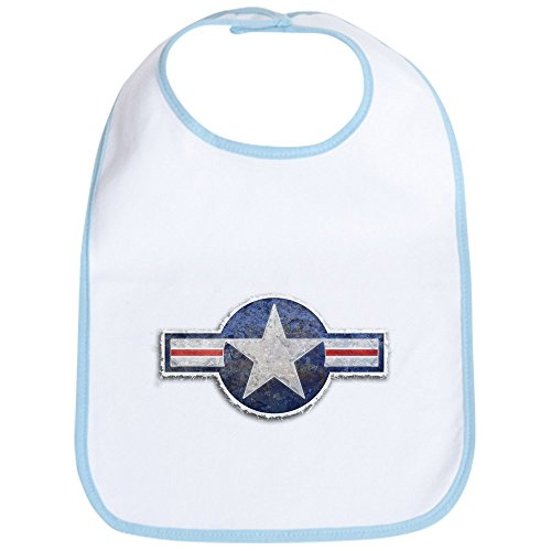 CafePress - USAF US Air Force Roundel Bib - Cute Cloth Baby Bib, Toddler Bib (Air Force Bib)
