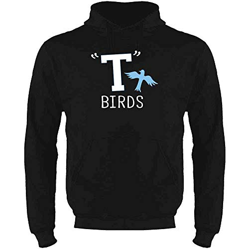 T Birds Gang Logo Costume Retro 50s 60s Costume Black L Mens Fleece Hoodie Sweatshirt]()