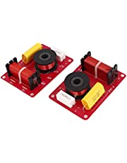 uxcell 2 Pcs 130W 2-Way Speaker System Audio Crossover Filters Frequency Distributor