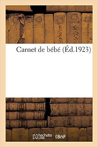 Carnet De Bebe French Edition Collectif 9782329088327 Amazon