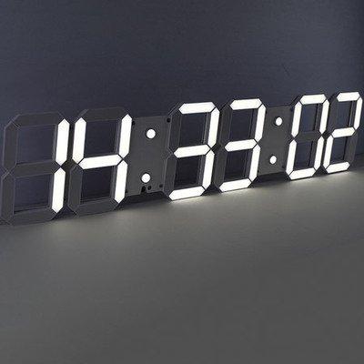 Y-Hui Fuente grande habitación Reloj de pared Reloj Calendario reloj electrónico digital estéreo,