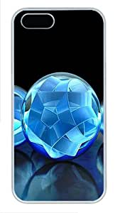 iPhone 5S Cases & Covers -3D Crystal Sphere Custom PC Hard Case Cover for iPhone 5/5S ¨C White