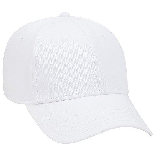 OTTO 6 Panel Low Profile Superior Cotton Twill Cap - White ()