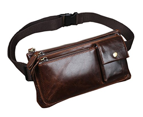 Sling Chest Belt Fanny Pack Waist Purse Clutch Bag Coffee ()