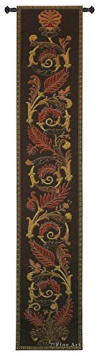 - Woven Tapestry Wall Art Hanging for Home Living Room & Office Decor - Birds of Paradise Totem Climbing Vine and Fern Feathers Motif - 100% Cotton - USA 87X16 ()