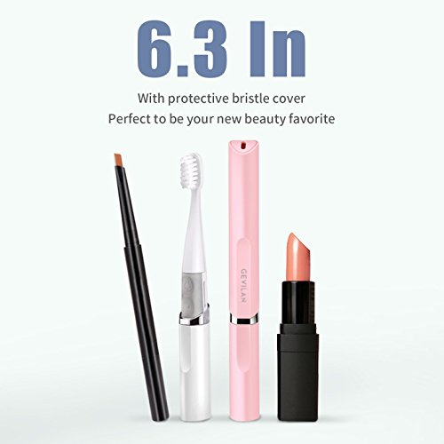 Travel Electric Toothbrush by Gevilan with Sonic Powerful Vibration and 2 Modes Battery Powered, Waterproof and Portable Lipstick Mini Design for Daily Oral Beauty Care, Trip and Outdoor Camping by GEVILAN (Image #3)