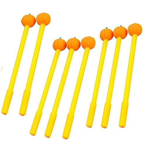WIN-MARKET Gel Pens Set Fashion Cute Lollipop Colorful Kawaii Lovely Cartoon Novelty Creative Pumpkin Gel Ink Rollerball Pens Ball Pens Office School Supply Stationery(8PCS) ()