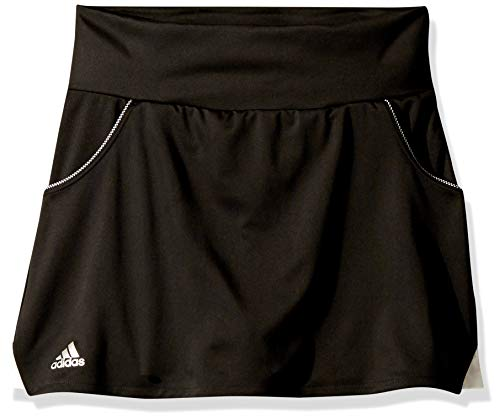 adidas Junior Girls' Club Tennis Skirt, Black, Small