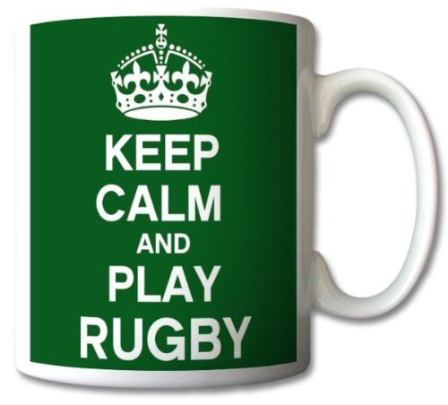 Keep Calm And Play Rugby Mug Cup Gift Retro by GreatDeals4you