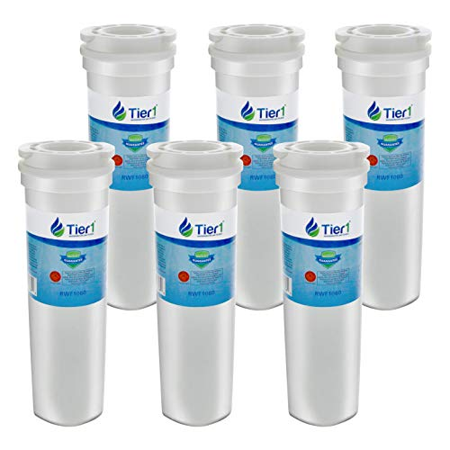 Tier1 Replacement for Fisher & Paykel 836848, 836860 Refrigerator Water Filter 6 Pack (Fisher Paykel Glass Refrigerator)