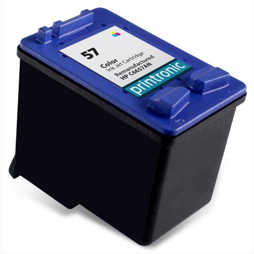 Printronic Remanufactured HP 57 Ink Cartridge for PSC 1315 1210 1350 Deskjet 5550 5150 450 5650 PhotoSmart 7760 Printers (1 Color)