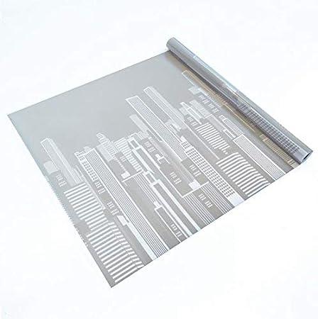 Lámina estática ventana Ref LIBERTY Vinilo decorativo sin adhesivo, 99% protección solar UV, antiácaros. Reutilizable. Fácil colocación. Film privacidad estampado NY.Cristal, mampara, oficina 46x150cm: Amazon.es: Hogar