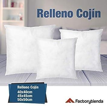 Casaimabo Relleno de cojín Muy Mullido indeformable 30 x 50 cm (Ref:1u3050), antialérgico, de Fibra Hueca Virgen siliconada.(Disponible en Otras ...