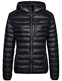 Wantdo Women's Lightweight Packable Down Jacket Hooded Insulated Coat