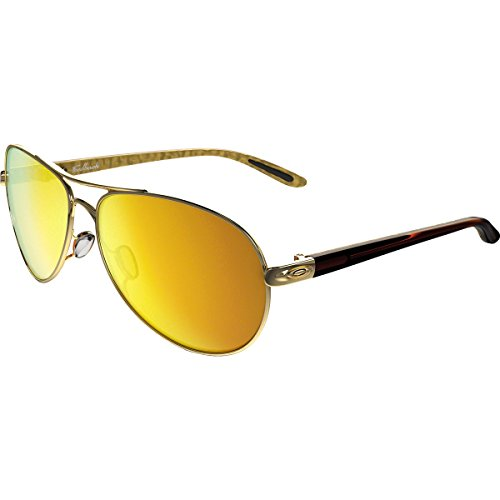 Oakley Womens Feedback Sunglasses, Polished Gold/24K Iridium, One - Pads Nose Oakley Sunglass
