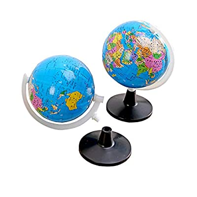 HUIJUNWENTI 1 Pcs Globe World Earth Map Plastic Ball Geography Education Toys Bracket Educational Toys Home Decoration Children's Gifts: Home & Kitchen