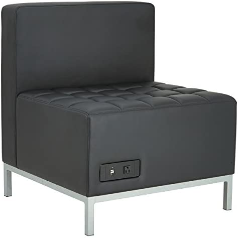 Alera ALE QUB Series Powered Armless L Sectional