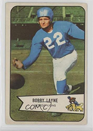 Bobby Layne Ungraded COMC Good to VG-EX (Football Card) 1954 Bowman - [Base] - 1954 Football Cards
