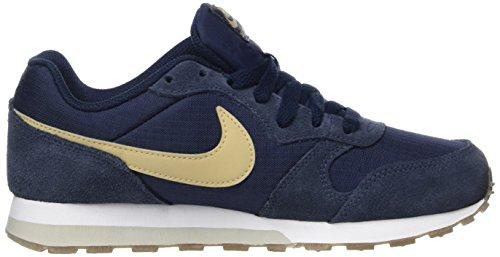 outlet store a57c2 bf9f9 Nike MD Runner 2 GS, Zapatillas de Running para Niños, Azul  (Obsidian Mushroom Light Bone Gum Dark Brown), 35.5 EU  Amazon.es  Zapatos  y complementos