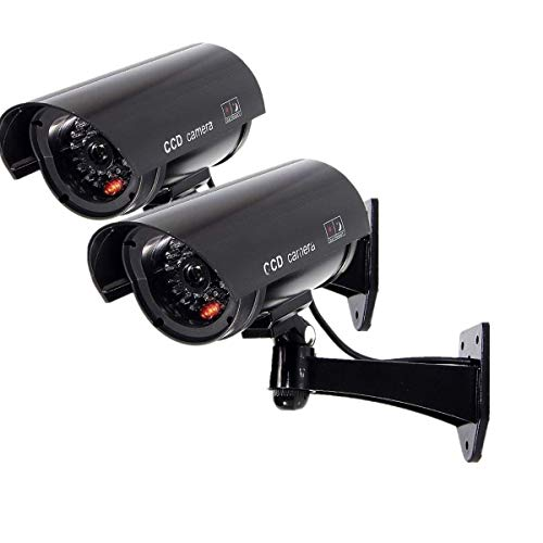 Cheapest Prices! Fake Security Camera, Dummy CCTV Surveillance System with Realistic Red Flashing Li...