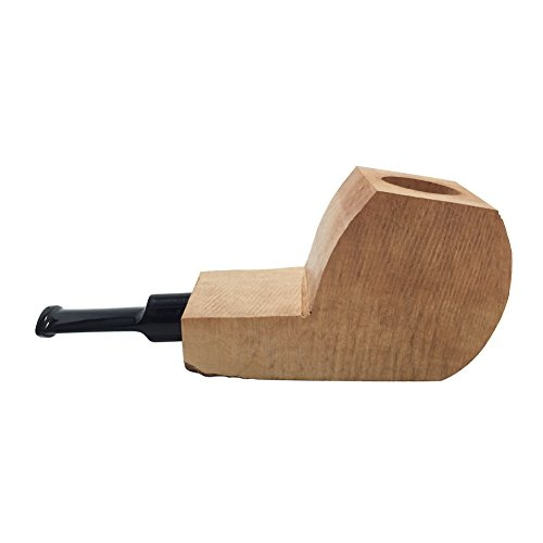 (FULUSHOU Tobacco Pipe Mediterranean Briar Wood Block - Semi-Finished Tobacco Pipe -Style 3)