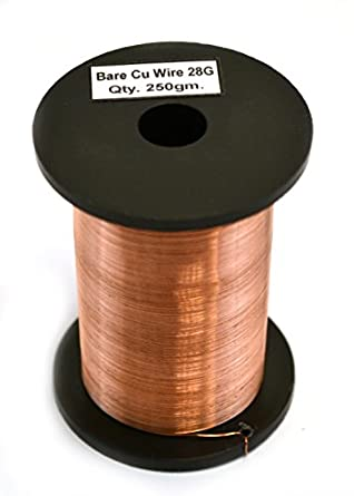 Amazon eisco labs copper wire bare 800ft reel 28 swg 2930 eisco labs copper wire bare 800ft reel 28 swg 2930 greentooth Choice Image