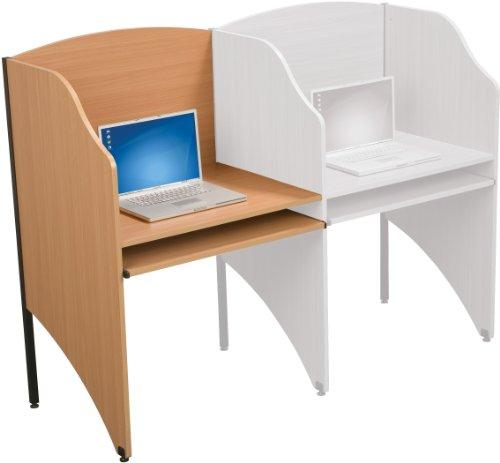 Balt Standard Add-a-Carrel, Teak (Balt Floor Carrel)