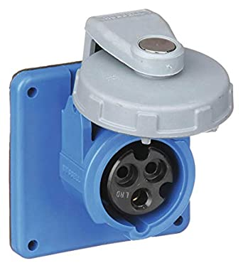 hubbell wiring device-kellems 20 amp, 1-phase zytel 101 nylon watertight  pin and sleeve receptacle, blue: amazon com: industrial & scientific