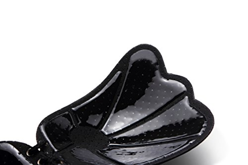Silicone Autoadesive Di Invisibile Senza YuanDian Riutilizzabile TX Con Scoperta Schiena Reggiseno Coppe Spalline Nero Up Push Coulisse FBO56qx5w