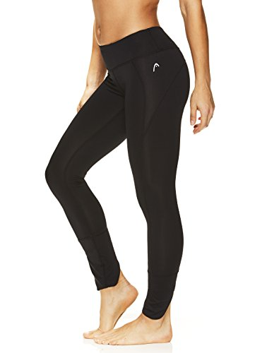 HEAD Women's Rally Leggings - Performance Activewear Yoga & Running Pants - Black, Small