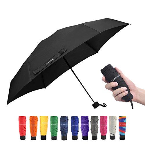 Travel Compact Umbrella Windproof Mini Sun & Rain Umbrella Ultra Light Parasol - Fits Men & Women, Gift Choice(Black)