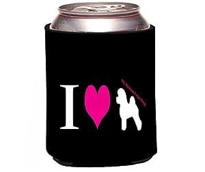 "Rikki Knight ""I Love My Bichon Frize Dog Design"" Beer Can/Soda Drinks Cooler Koozie"