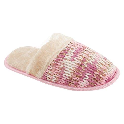Pantofole Slumberzzz Da Donna / Donna Lavorate A Maglia Rosa