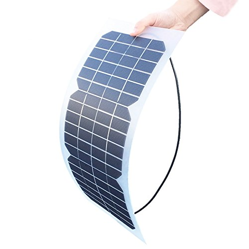 18V 10W Semi Flexible Solar Panel Transparent Monocrystalline Module DIY Kit Outdoor Charger for Camping Hiking Travel