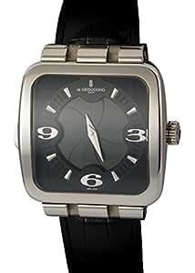"De Grisogono 18K WG ""Fuso Quadrato"" Gent's GMT Time Zone. Camera Shutter Dial"