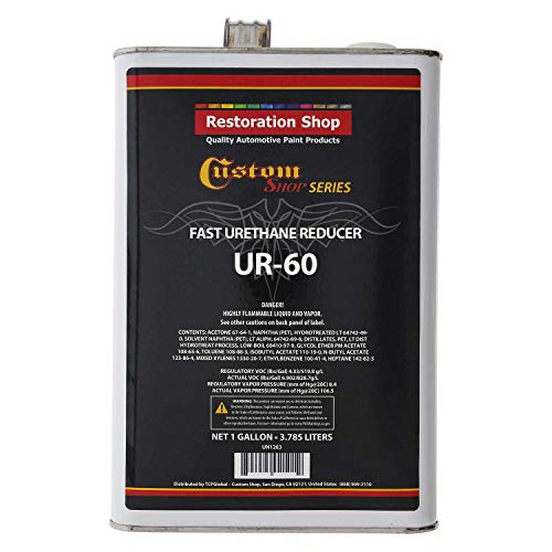 Restoration Shop/Custom Shop - UR60 Fast Urethane Reducer (Gallon) for Automotive Paint and Industrial Paint Use ()