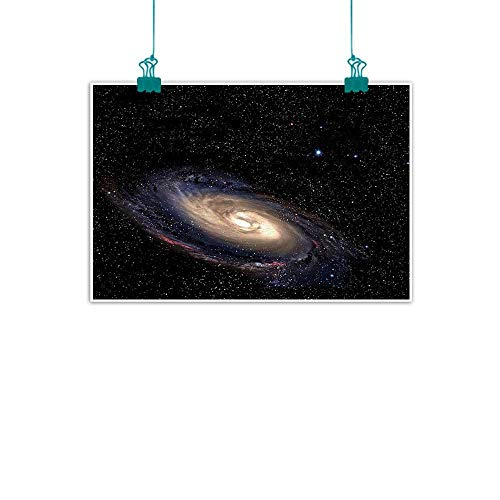Galaxy,Wall Pictures Spiral Universe in a Field of Stars Astronomy Theme Deep Outer Space Print W 36
