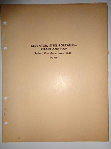 (John Deere 50 Series Portable Hay and Grain Elevator Parts Catalog Book Manual 9/53 original)