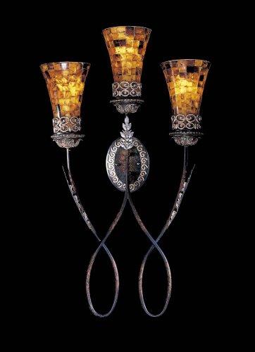 Metropolitan N6512-468, Salamanca Shell Wall Sconce Lighting, 3 Light, 180 Total Watts, Bronze - Salamanca Three Light
