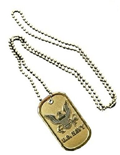 United States Navy Anchor Seal Unit Division Rank Logo Symbols - ALL Metal Military Dog Tag Luggage Tag Key Chain Metal Chain Necklace
