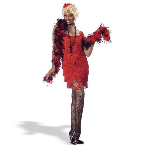 Costumes Cabaret Burlesque (Red Fashion Flapper Adult Costume)