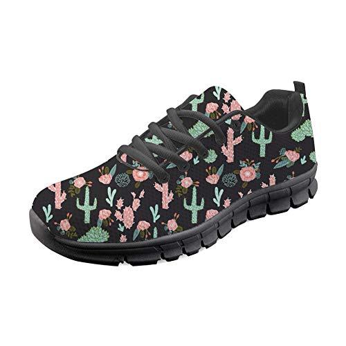 Flats Cactus Print Femmes Sneaker Sport Lgres Showudesigns Chaussures Baskets De Running 6gqRxv