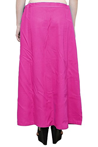 Readymade de algodón de las mujeres indio inskirt Saree petticoats enaguas–talla única Rosa Oscuro